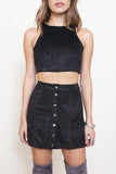Salt River Suede Crop Top - FINAL SALE