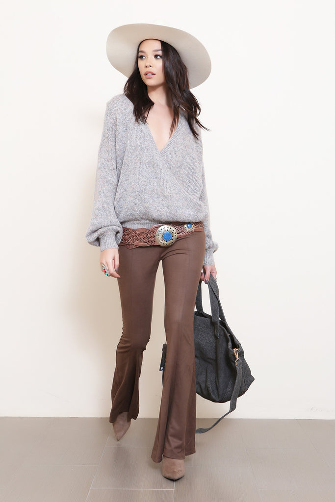 Whiskey River Suede Bell Bottoms- FINAL SALE