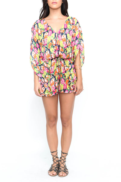 Go With The Floral Romper - FINAL SALE