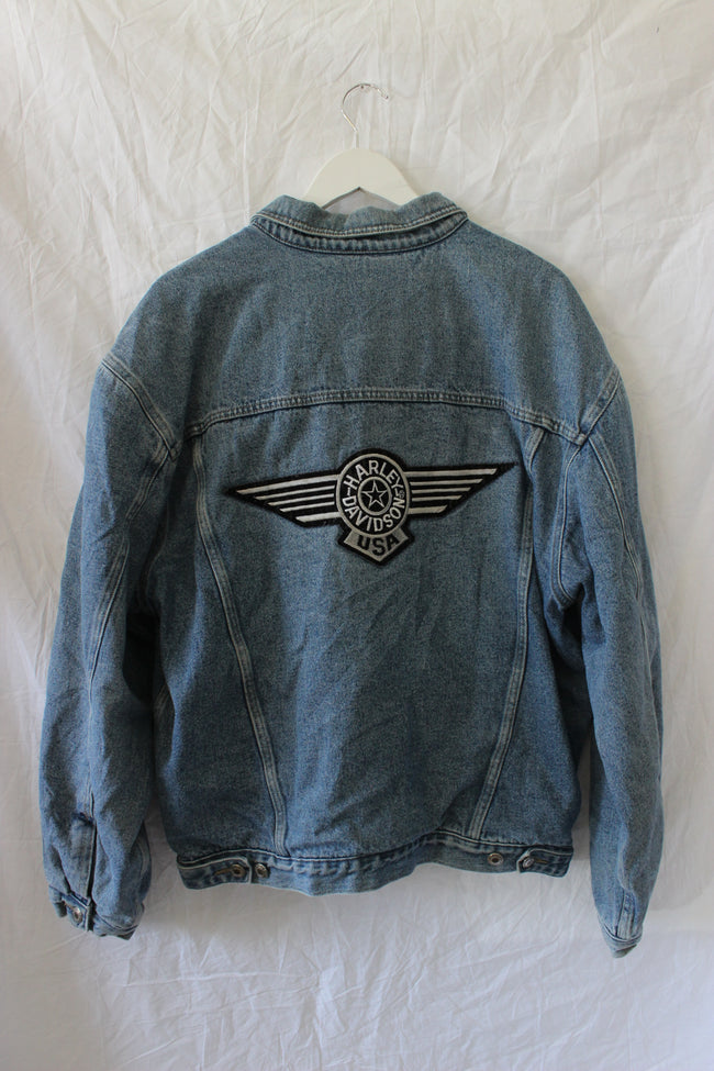 Harley Davidson Denim Jacket by Luna B Vintage