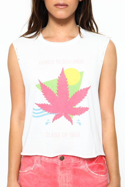 Venice Beach High Crop Tank by The Laundry Room - FINAL SALE