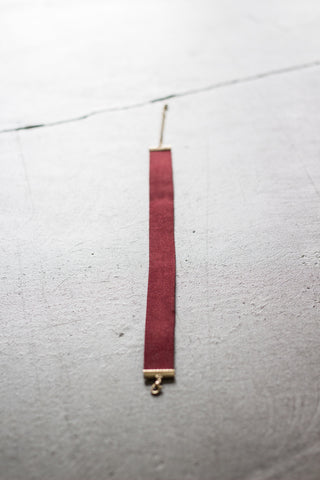 Go Gothic Suede Choker - FINAL SALE