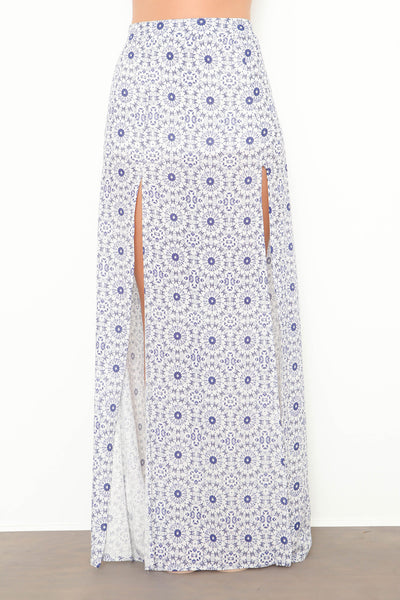 Kaleidoscope Skies Maxi Skirt