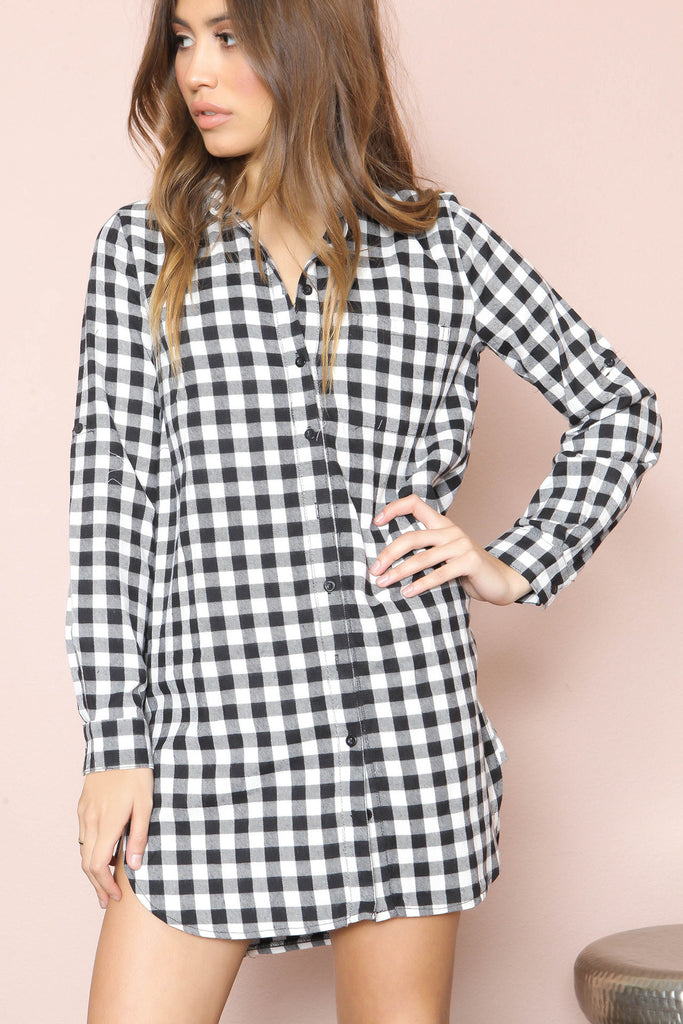Checkmate Shirt Dress - FINAL SALE