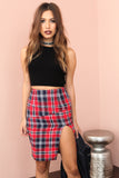 Plaid Attitude Skirt- FINAL SALE