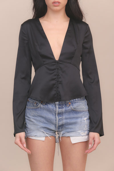 Last Call Satin Top - FINAL SALE