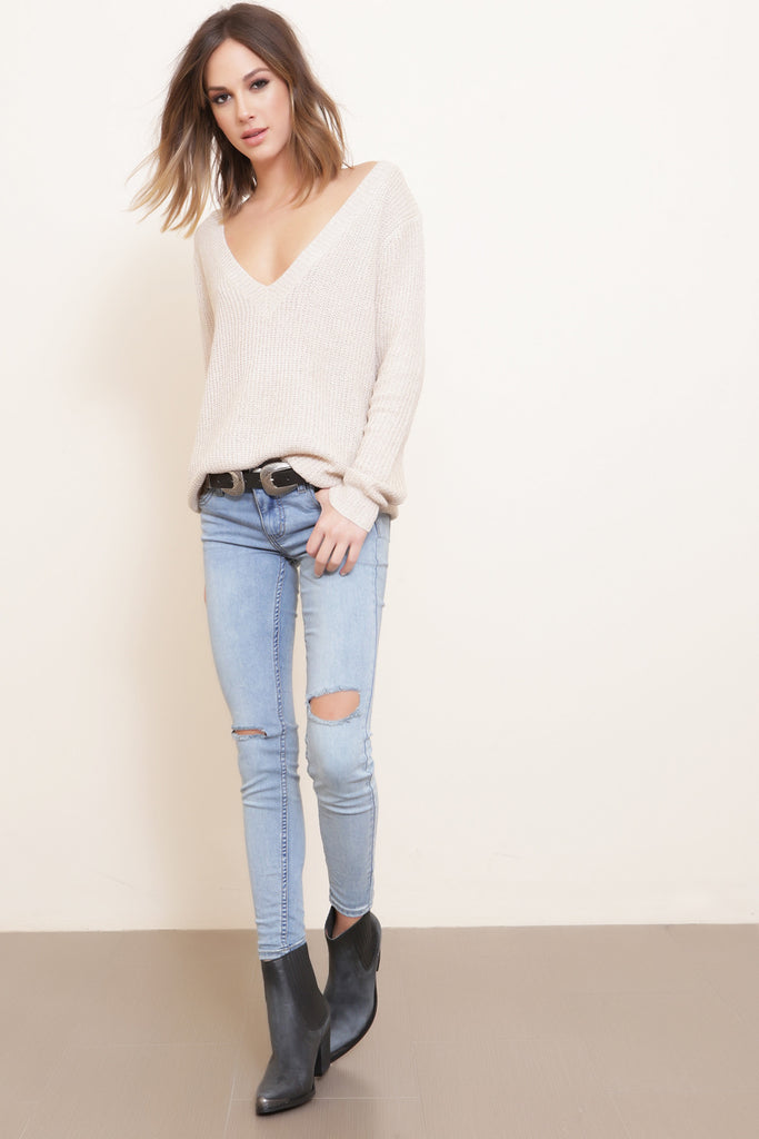 Destroyed Skinny Jean by Free People - FINAL SALE