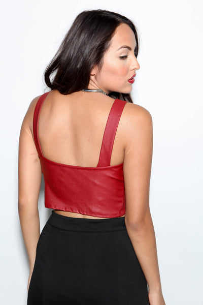 Silhouettes Crop Top Red - FINAL SALE