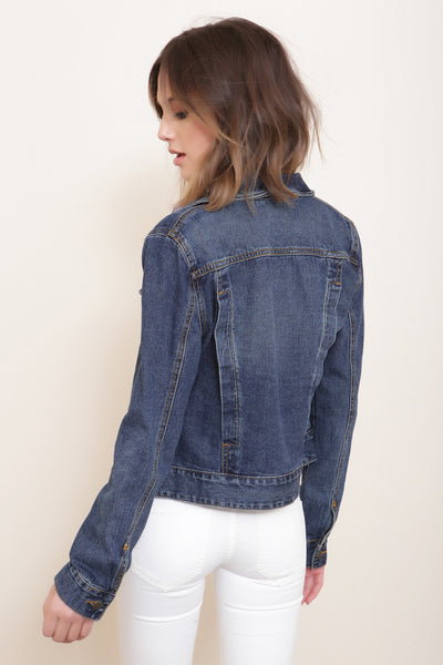 Fitted Denim Jacket by Free People - FINAL SALE