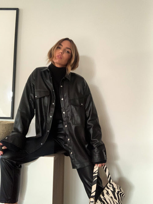 Grunge Vibes Leather Shirt