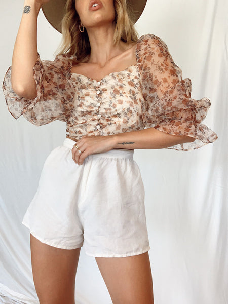 Fresh Blooms Crop Top - FINAL SALE