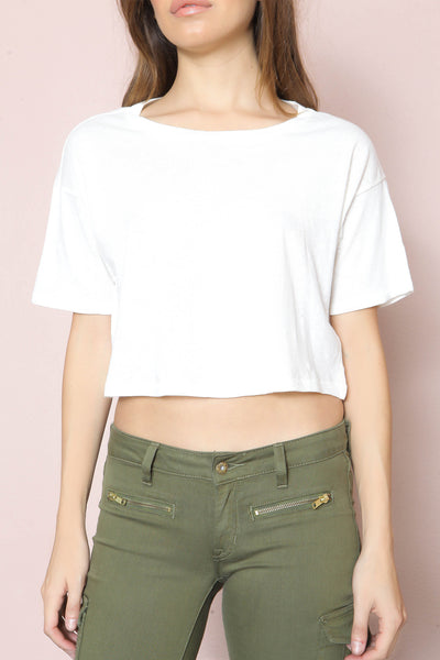 Harper Cropped Tee by Amuse Society