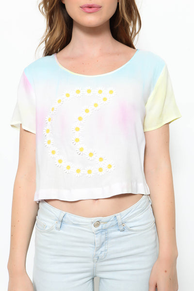 Rainbow Moon Crop Top - FINAL SALE