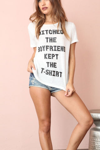 Ditched The Boyfriend Shirt By MINKPINK