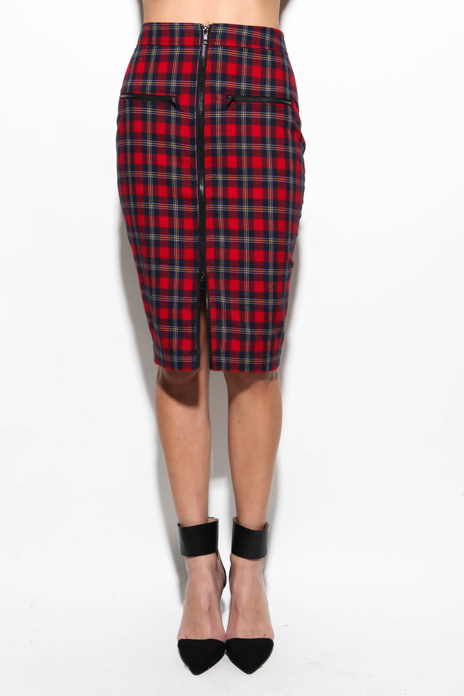 Hollaback Plaid Skirt - FINAL SALE