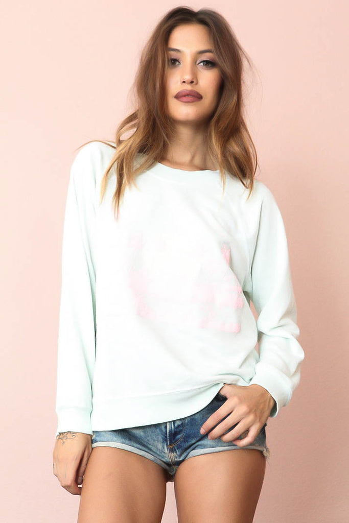 Pink Island Sweater by WILDFOX - FINAL SALE