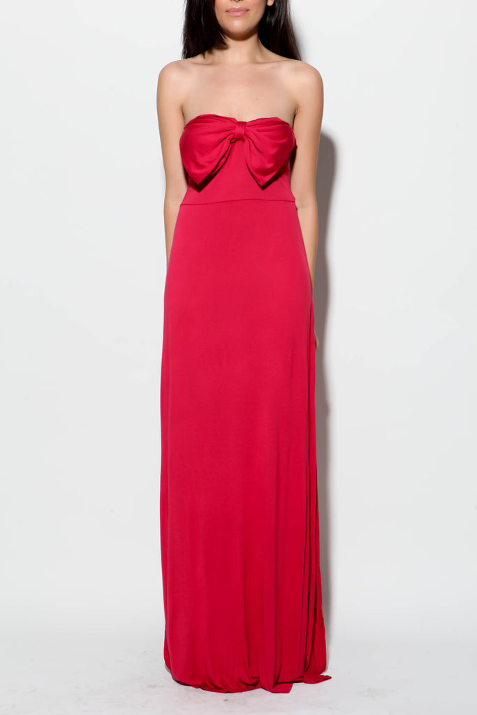 Sweet Tart Bow Maxi Dress - FINAL SALE