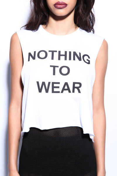 Nothing To Wear Crop Top - FINAL SALE