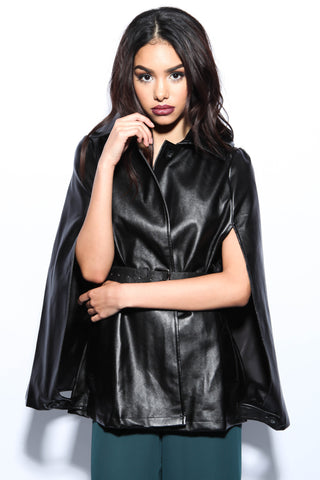Mystery Leather Cape - FINAL SALE