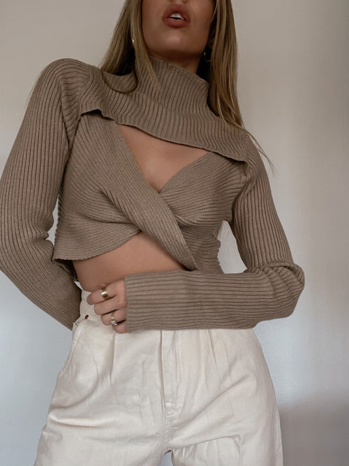 Twister Crop Sweater