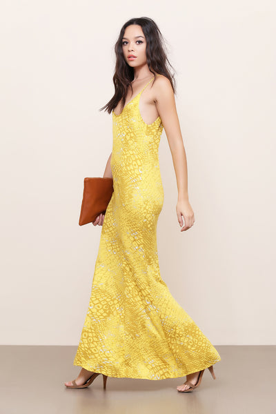 Sulphur Snake Maxi Dress by Somedays Lovin - FINAL SALE