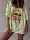 Metallica Flower Skull One Size Tee by Daydreamer