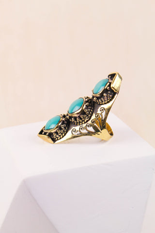 Triple Turquoise Ring by Vida Kush
