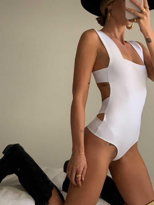 Oh She's Strappy Bodysuit by Free People