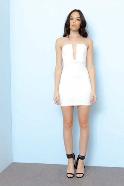 Take the Plunge Bodycon Dress - FINAL SALE