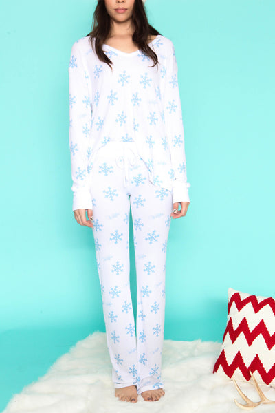 Snowflake Polar Pajama Set By WILDFOX - FINAL SALE
