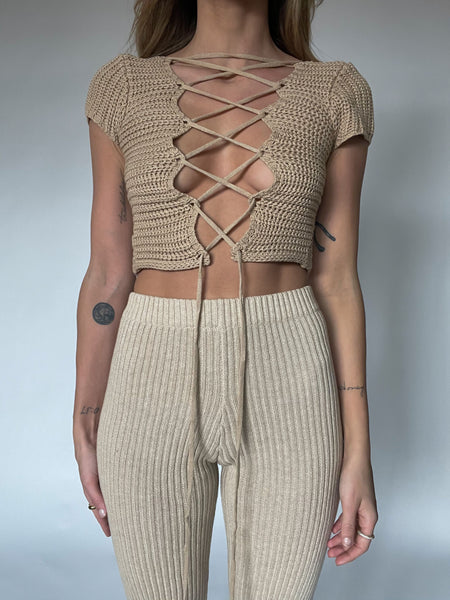 All Sewn Up Crop Top