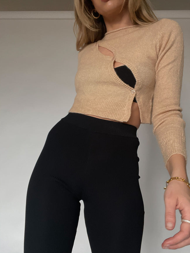 Cross Me Crop Sweater