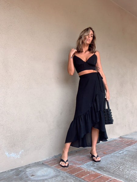 Find Your Way Midi Skirt