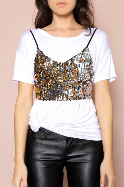Chandelier Sequin Crop Top - FINAL SALE