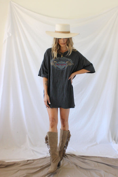 Harley Davidson T-Shirt Dress by Luna B Vintage