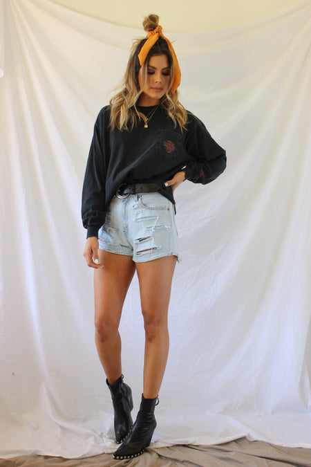 Fashion House Leather Shorts