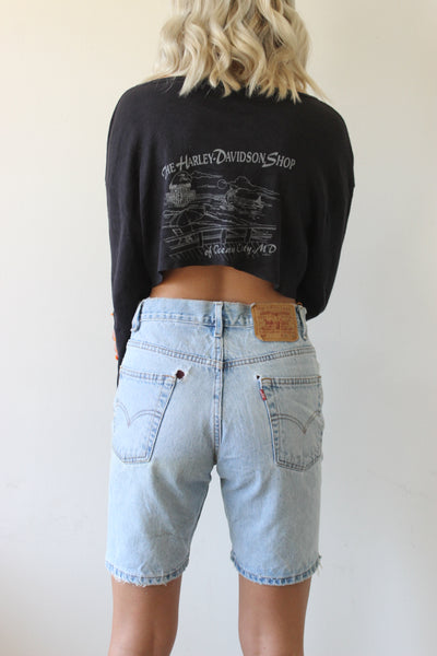 Harley Davidson Crop Long Sleeve Tee by Luna B Vintage