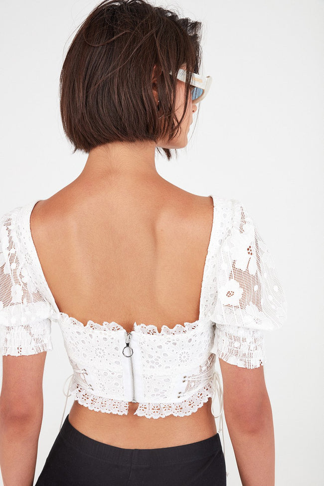 Indio Lace Crop Top by For Love & Lemons