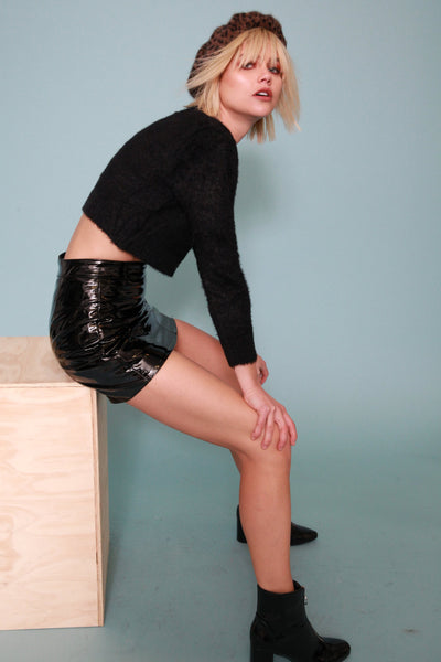 Bad Attitude Vinyl Skirt - FINAL SALE