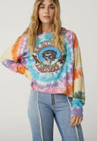 The Grateful Dead Tie Dye Long Sleeve Crop by Daydreamer