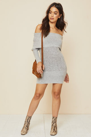 Keep 'Em Guessing Sweater Dress