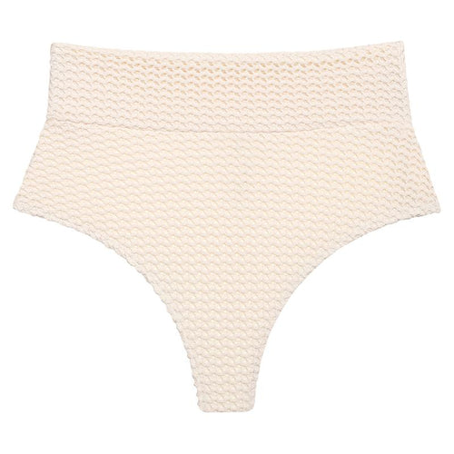 Crochet High Rise Bikini Bottom by Montce Swim