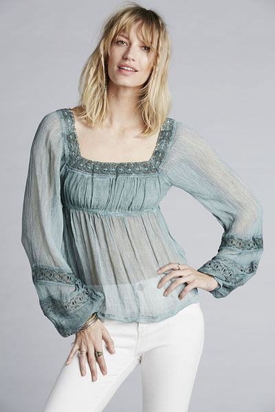Moonchaser Peasant Top by Free People - FINAL SALE