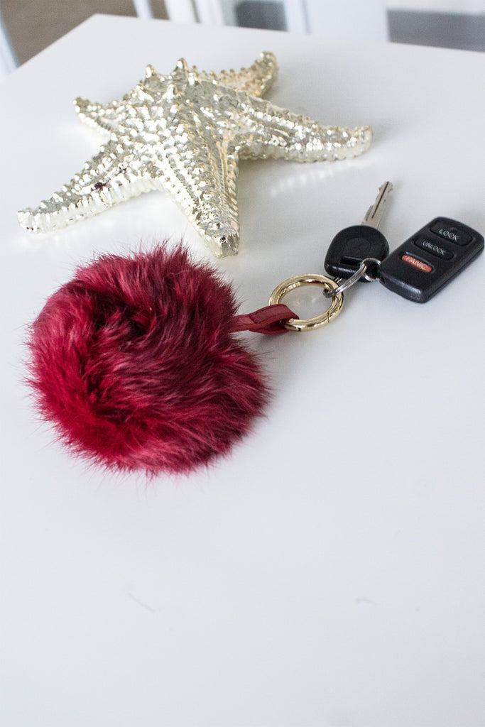 Pom Pom Keychain - FINAL SALE