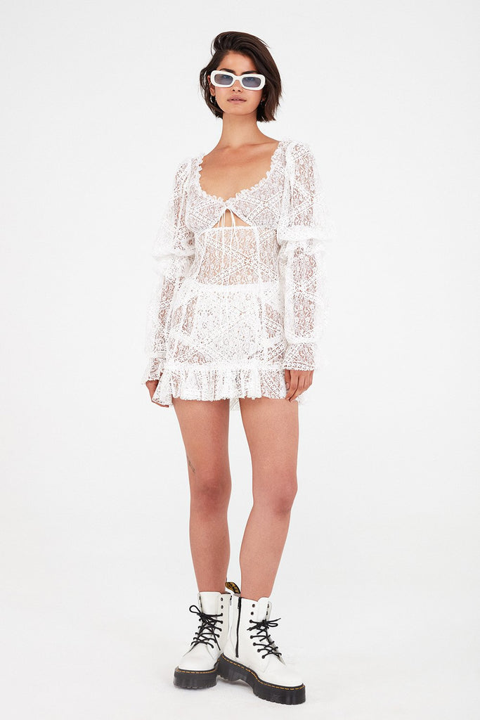 0d9fb21584c Sequoia Lace Mini Dress by For Love & Lemons – SHOPLUNAB