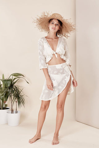 Ritz Tie Front Top by For Love & Lemons