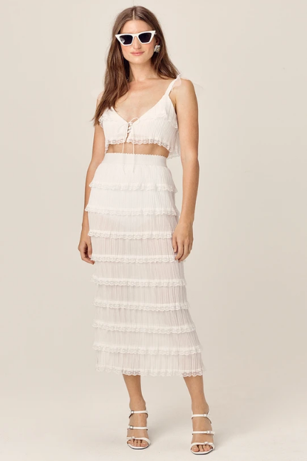 Posie Midi Skirt by For Love & Lemons