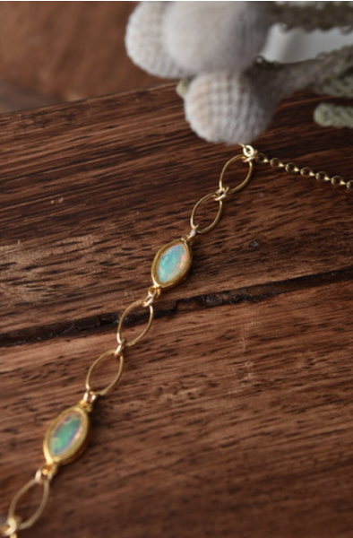 Opal Horn Lariat by Lili Claspe