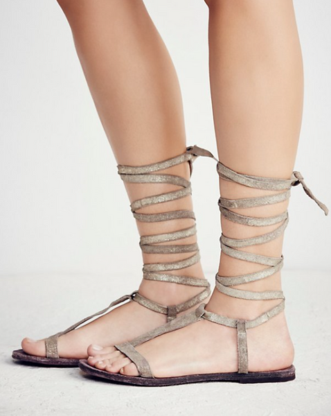 Dahlia Lace Up Sandal by Free People - FINAL SALE