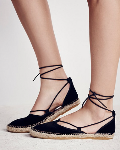 Marina Lace Up Espadrille by Free People- FINAL SALE